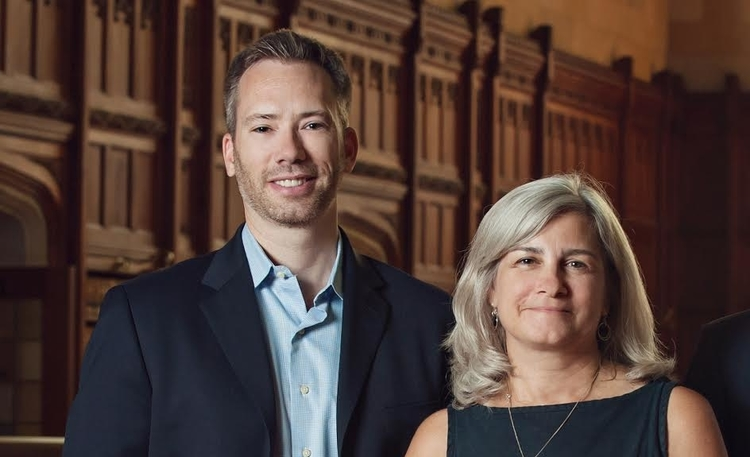 Court Innovations co-founder J.J. Prescott and CEO MJ Cartwright.