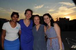 A2 Health Hacks founders Neelima Ramaraju, Diane Bouis, Britt Johnson, and Beatrix Balogh.