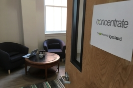 Concentrate's office at Landline Creative Labs in Ypsi.