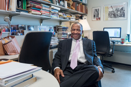 Ronald Woods in his office at Eastern Michigan University