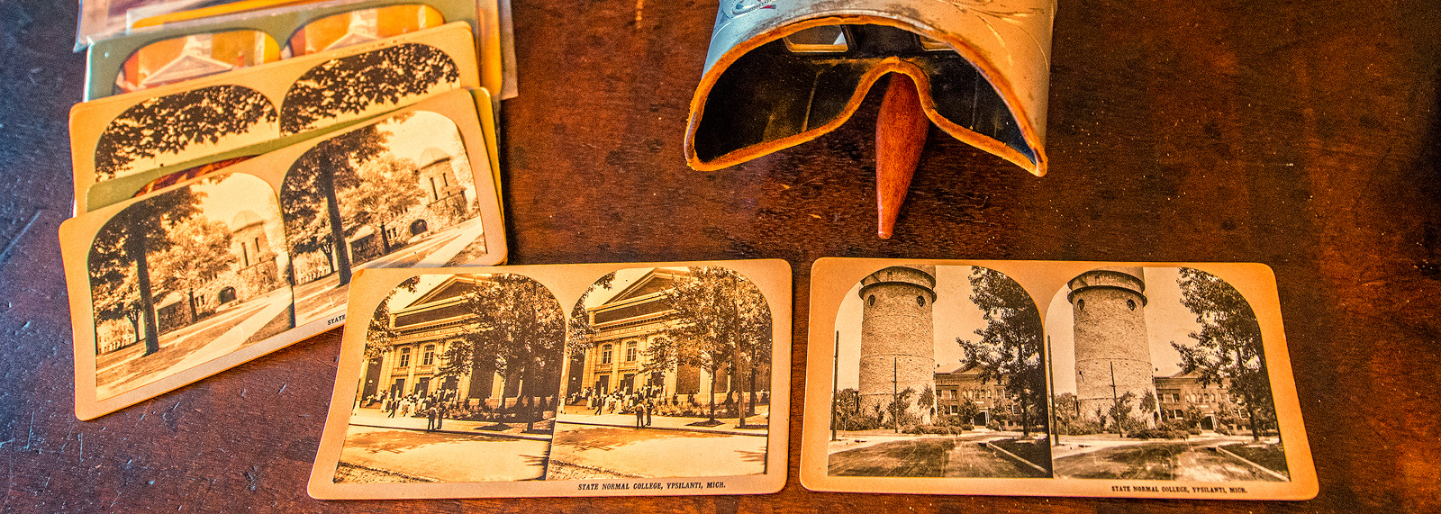 A stereoscope at the Ypsilanti Historical Museum