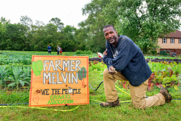 Melvin Parson at We The People Growers Association gardens