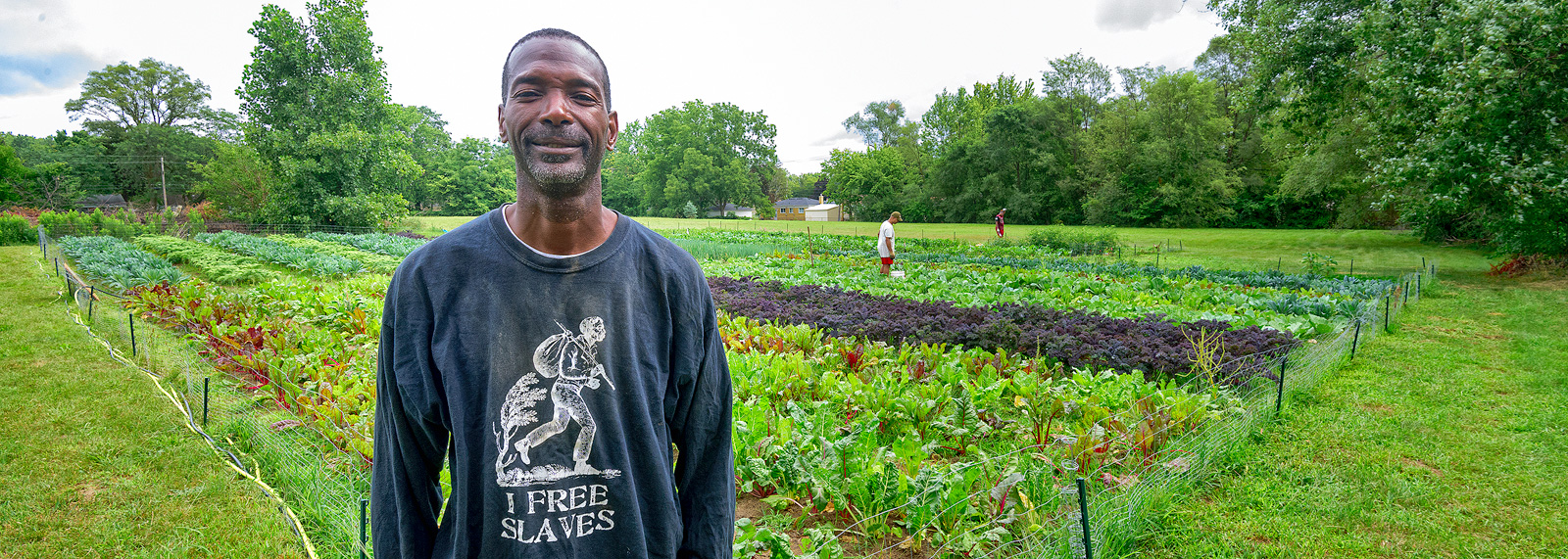 Melvin Parson at We The People Growers Association gardens <span class='image-credits'>Doug Coombe</span>