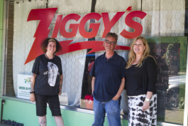 Ziggy's cafe manager Kristina Ouellette and owners David and Jo Jeffries.
