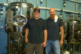 Pileated Brewing Co. owners Andrew Collins and Jay Howe.