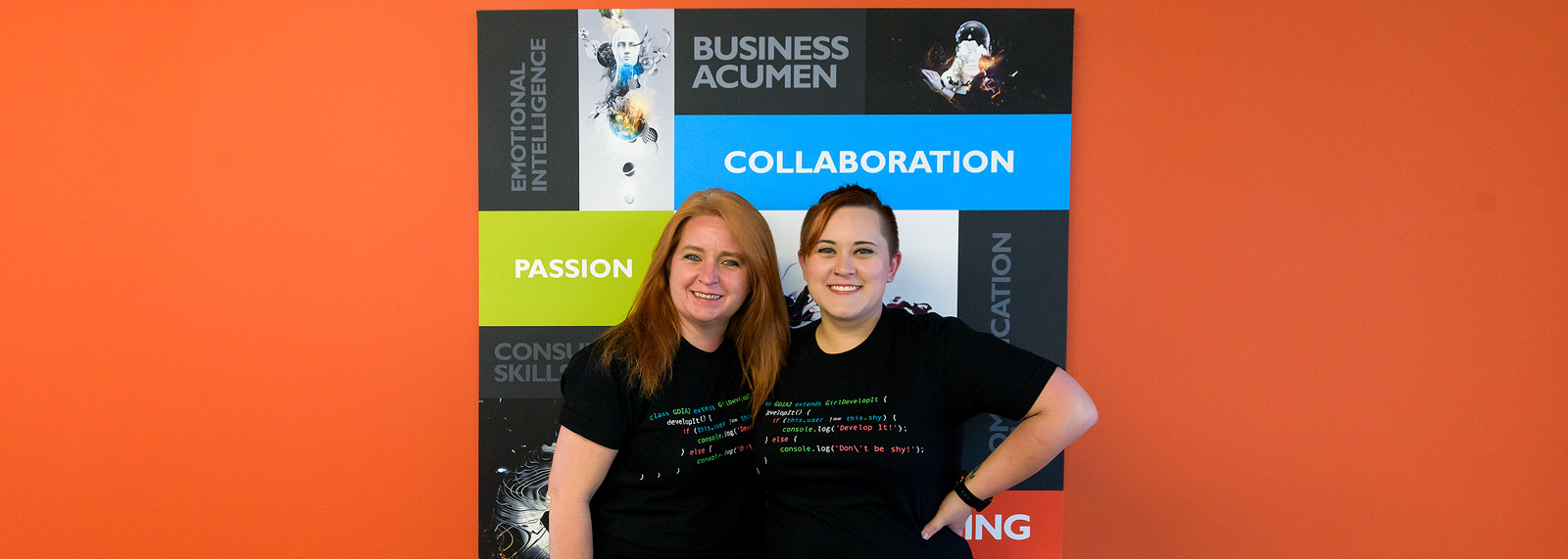 Ronda Bergman with her daughter and coworker Erin at Pillar Technology