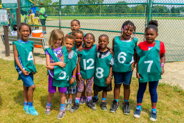 Kickball at the Summer Playground Program