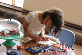 A young program participant at FLY Creativity Lab.