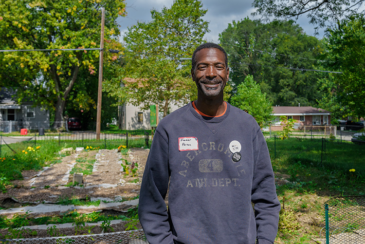 Melvin Parson at Parkridge Community Garden
