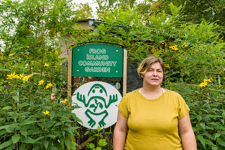 Michelle Shankwiler at Frog Island Community Garden