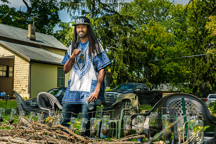 Noah Rucker at the Parkridge Community Garden