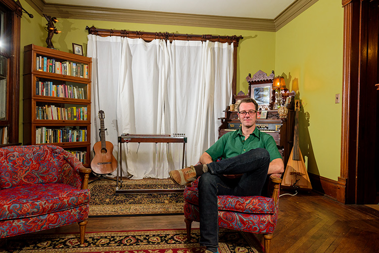 Greg McIntosh in his River Street home