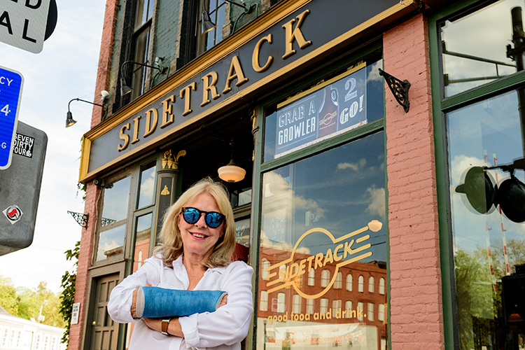 Linda French outside of Sidetrack Bar & Grill