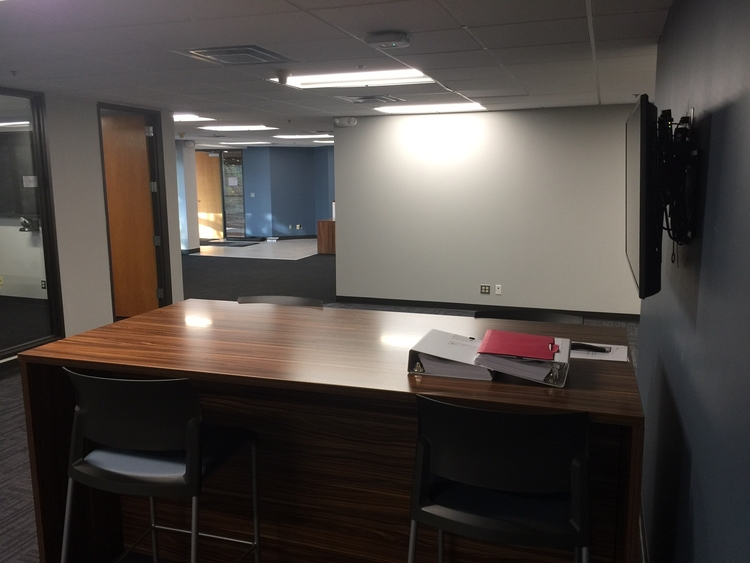 Inside UHY's recently renovated Ann Arbor office.