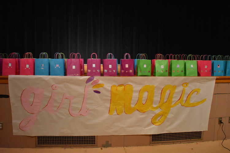 Gift bags for Girl Magic participants.