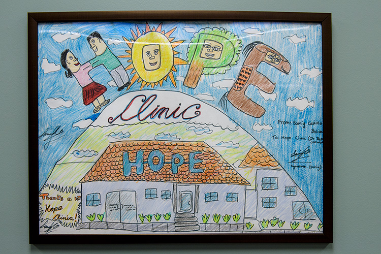 A thank you drawing from a Hope Clinic client