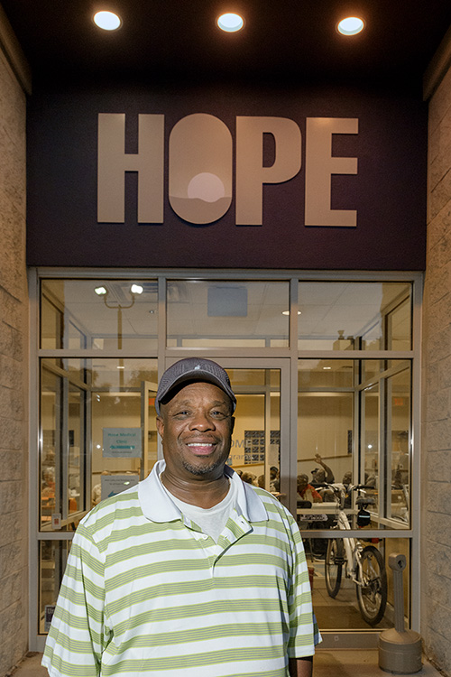Hope Clinic chaplain William Simmons
