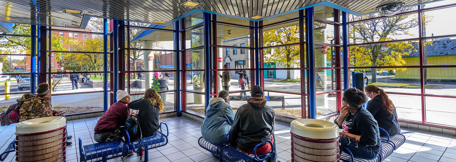 The Ypsilanti Transit Center <span class='image-credits'>Doug Coombe</span>