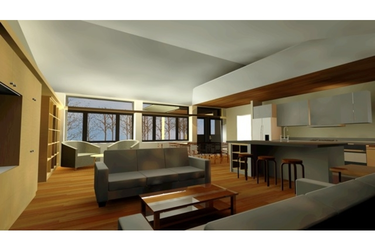 Rendering of the passive home's interior.