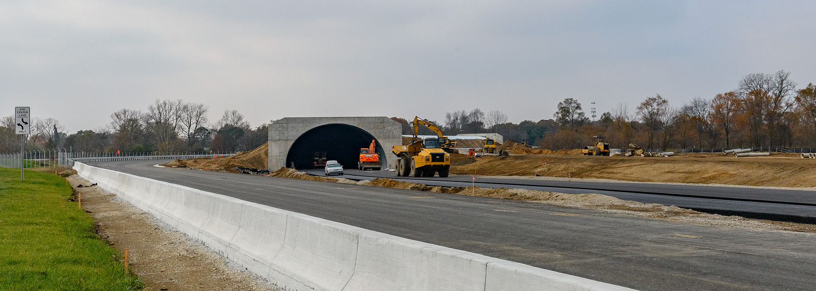 The test track at the American Center For Mobility under construction