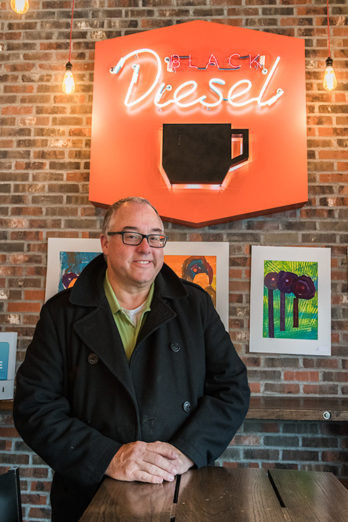 Nick Ferris at Black Diesel Coffee