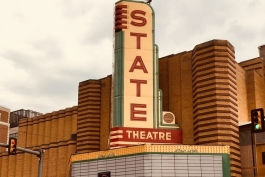 State Theatre sign.