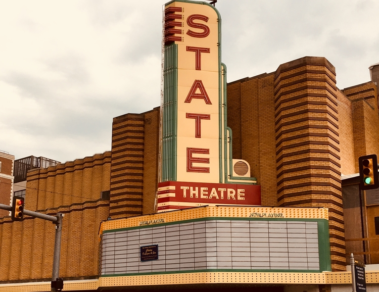 The State Theatre's refurbished sign.