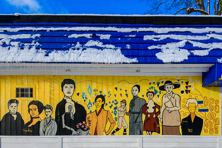 Ypsilanti Heritage Mural Project's second mural on Congress Street