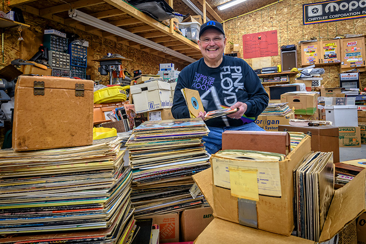 Ann Arbor Monster Record Show owner and organizer Rod Branham