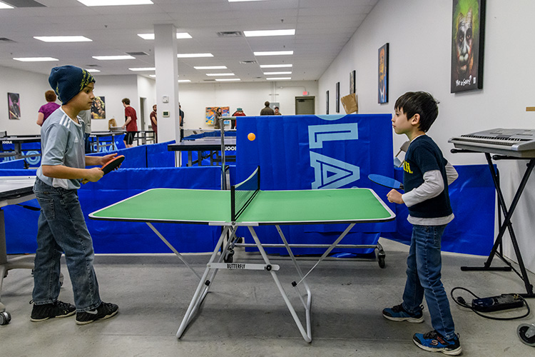 Children playing at Elmo's Ping Pong Palace