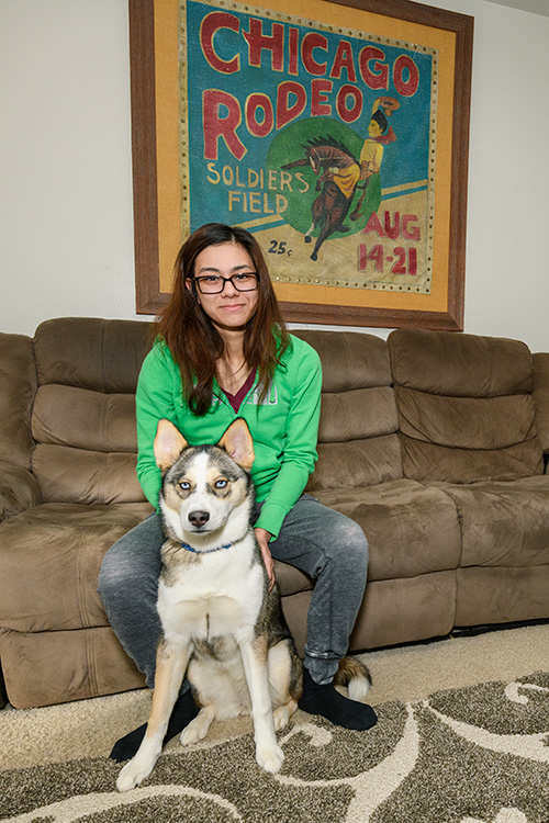 Jamie Seely and her dog Nukka