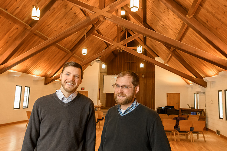 Dieter Bouma and Pastor Matt Ackerman at Campus Chapel
