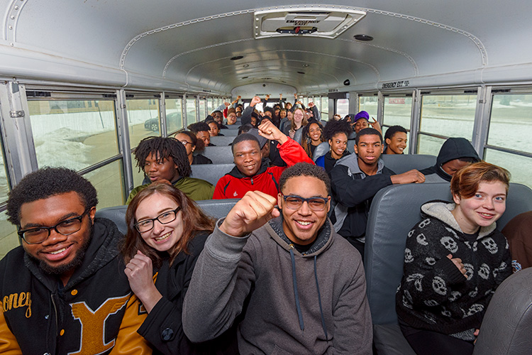 Ypsilanti Community High School students taking buses to see Black Panther
