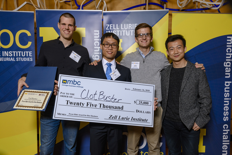 Stroke treatment device wins $25,000 top prize at Michigan Business  Challenge