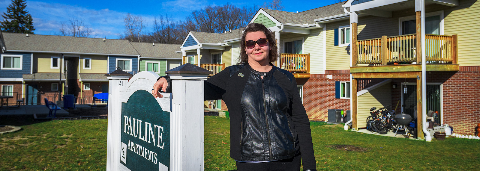 Jessica Letaw at Avalon Housing's Pauline Apartments