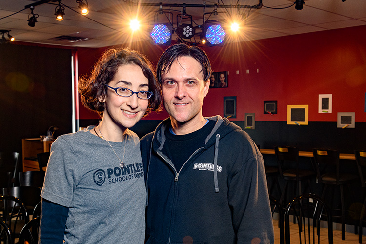 Tori and Jason Tomalia at Pointless Brewery & Theatre