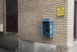 Futel's public phone in Ypsi.