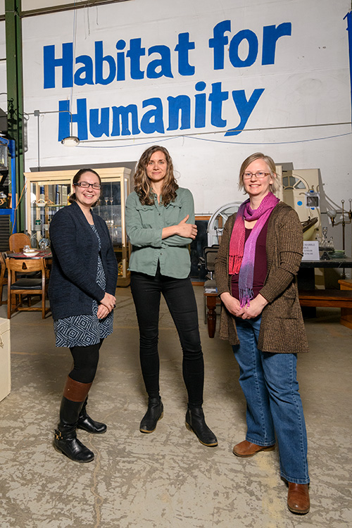 Karol Chubb, Heidi Frankenhauser and Sarah Teare at the Habit For Humanity of Huron Valley ReStore