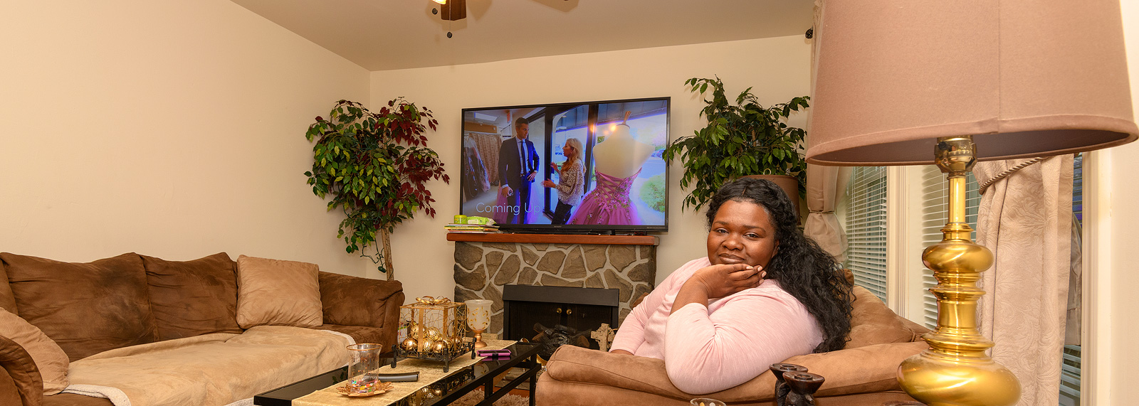 Nakesha Walker in her Sugarbrook home <span class='image-credits'>Doug Coombe</span>