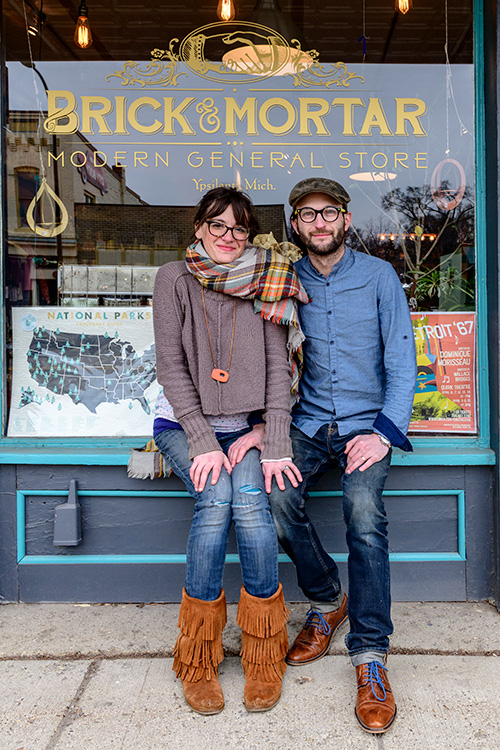 Sherri and Zachary Schultz at Brick and Mortar Modern General Store
