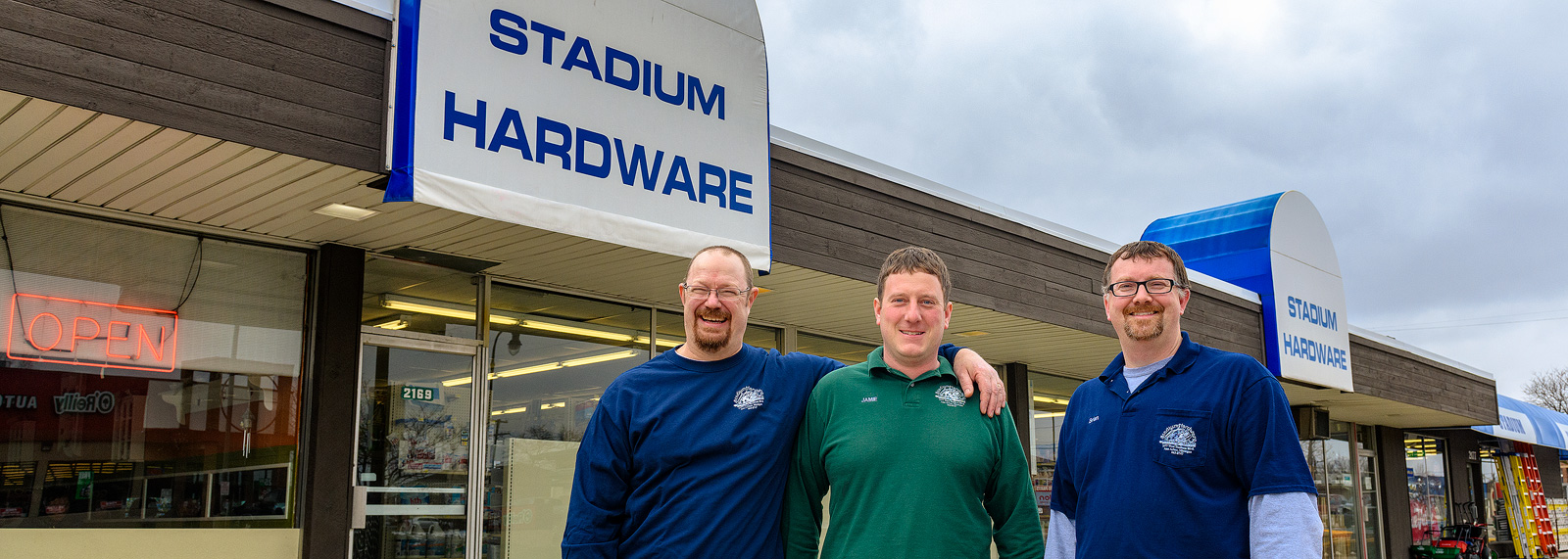 Stadium Hardware owners Skip Hackbarth, Jamie Brustad and Brian Bennink <span class='image-credits'>Doug Coombe</span>