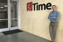 Carl Arft at SiTime's office.