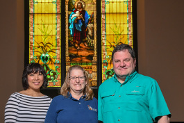 Yen Azzaro, Maggie Brandt and Steve Pierce at First Congregational United Church of Christ