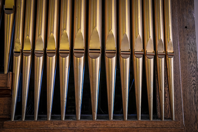 The organ at  First Congregational United Church of Christ