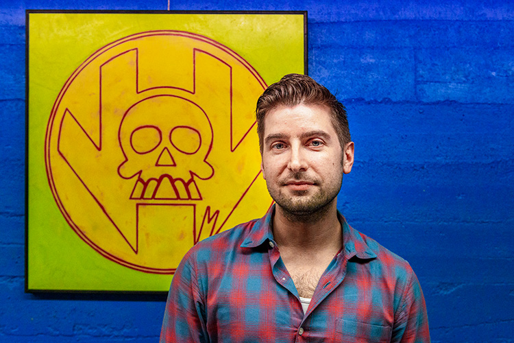 Nick Yribar of the Super Skull podcast at Vault of Midnight Ann Arbor