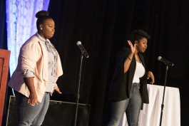 Tiffany Avery and Kiara Patterson pitch their business at Pitch@WCC.