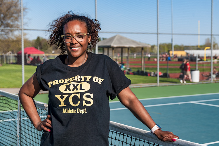 YCHS Girls Tennis Team Coach Taryn Reid