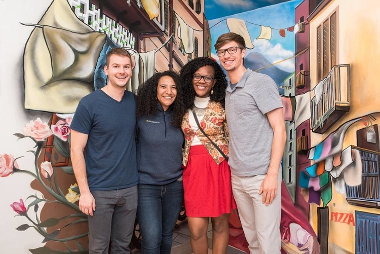 Team MACK members Mark Green, Allison Bernstein, Kashay Sanders, and Christopher Owen.