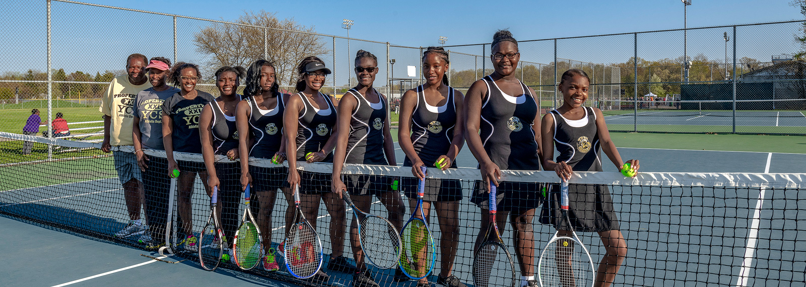 The YCHS Girls Tennis Team