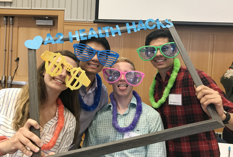 Participants at the 2017 A2 Health Hacks event.